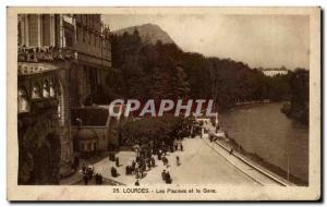 Old Postcard Lourdes Pools and the Gave
