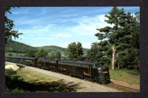PA Consolidate Rail Conrail Railroad Train Locos Hammond Pennsylvania Postcard