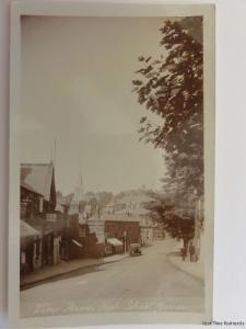 London HARROW High Street Shows HARTLEY CHEMIST & Horses Feeding Old RP Postcard
