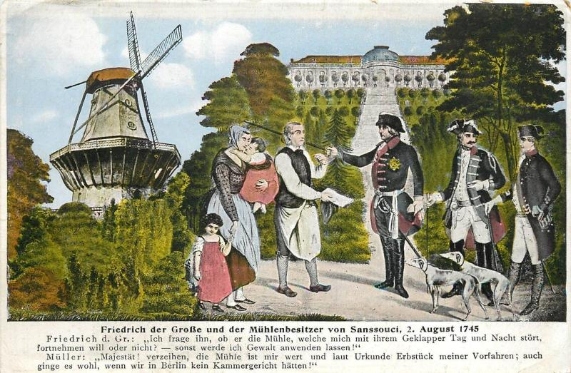 Frederick the Great and the Mill owners Sanssoucci in 1745 Der Alte Fritz