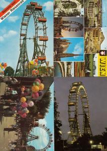 Wien Theme Park Roundabout 4x Austrian Fair Postcard s
