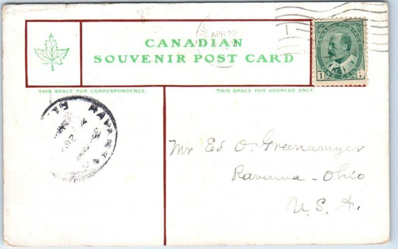 1907 Vancouver BC Canada Postcard LOGGING IN BRITISH COLUMBIA 1907 Cancel