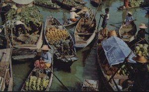 Floating Market Bangkok Thailand Unused