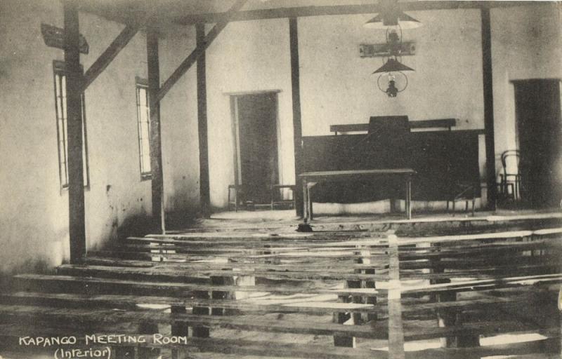 angola, KAPANGO, Bihe District, Meeting Room Interior (1930s) Postcard