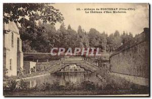 Old Postcard Chateau d & # modern 39eau Fontenay Abbey
