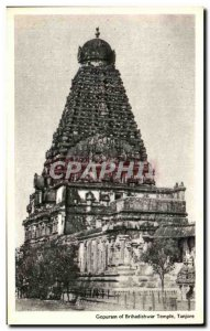 Postcard Old Gopuram Temple of Tanjore India Brihadishwar