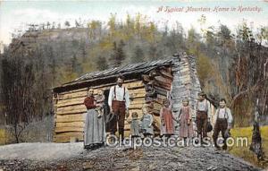 Kentucky, USA Postcard Post Card Typical Mountain Home