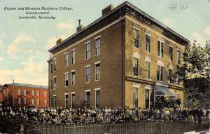 Louisville Kentucky Bryant Statton Business College Antique Postcard K13742