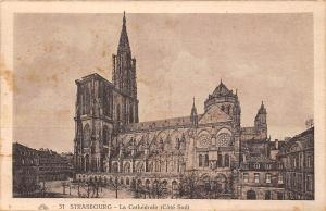 France Strasbourg La Cathedrale (Cote Sud) Dom Cathedral