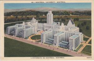 MONTREAL, Quebec, Canada, 1930-1940's; Montreal University