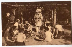 Indian Chief, Camp Thunderbird, Bemidji MN