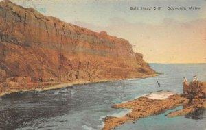 LPS16 Ogunquit Maine Bald Head Cliff Hand Colored Albertype Postcard