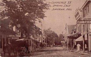 Smyrna Delaware Commerce Street Real Estate Office Vintage Postcard AA6074