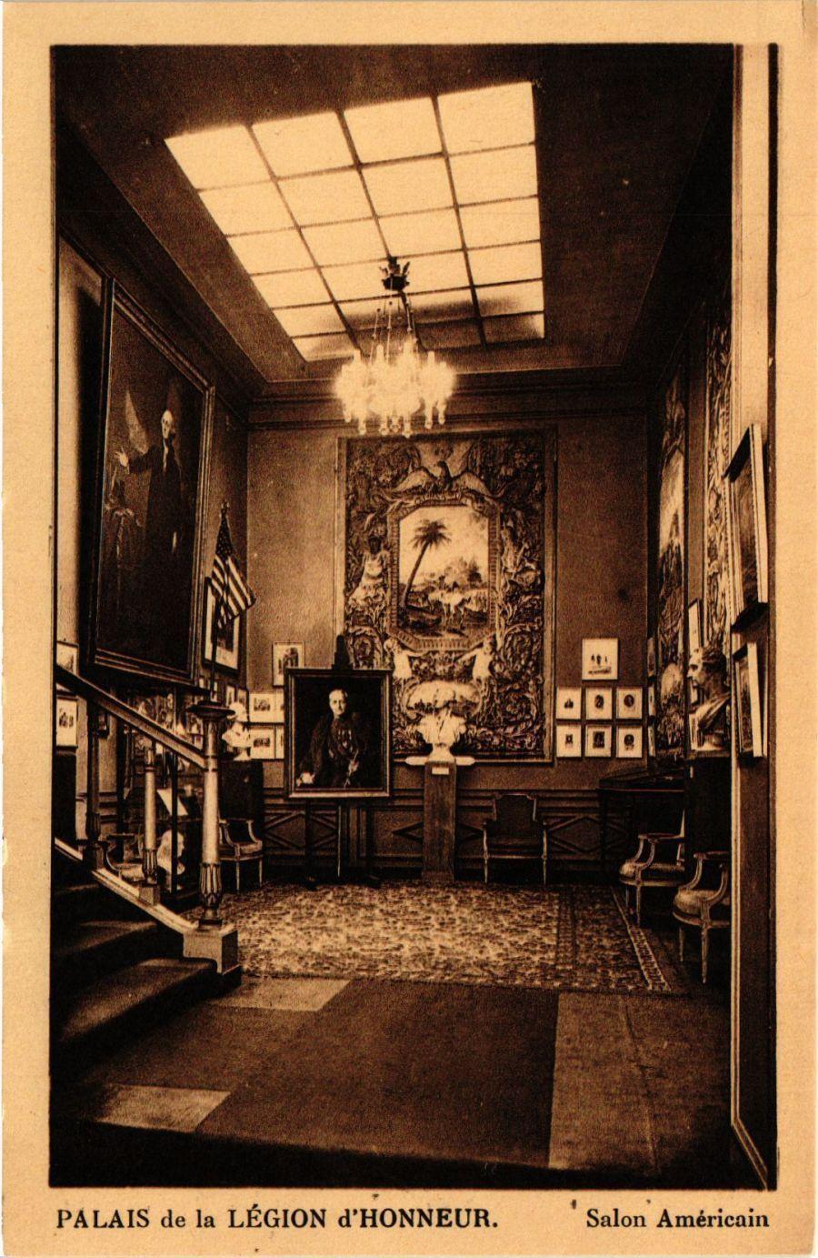 CPA PARIS 7e-Palais de la Legion d\'Honneur-Salon Américain ...