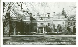 Roosevelt Home, Hyde Park New York RPPC unused real photo...