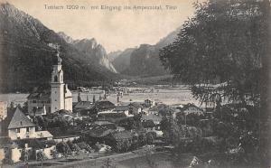 Austria Toblach mit Eingang ins Ampezzotal Tirol Church General view