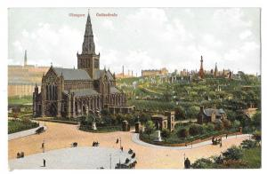 Scotland Glasgow Cathedral and Necropolis Vintage Postcard