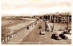 Vintage Real Photo Postcard Promenade and Beach Knott End On Sea Lancashire 32W