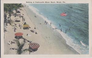 MIAMI BEACH FL - BEACH VIEW 1920s era - HISTORIC !