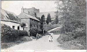 HAGWORTHINGHAM, Lincolnshire, United Kingdom  Street Scene  c1910s Postcard