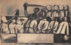 New York City School Social Research Mural Struggle in the Orient PC JD228217