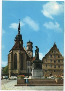 Post Card Stuttgart Germany  Schillerplatz