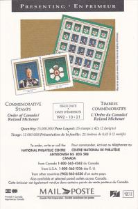 Stamps Of Canada Order Of Canada Roland Michener 1992