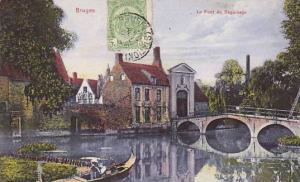 Belgium Bruges Le Pont du Beguinage 1926