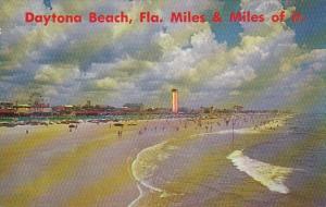 Florida Daytona Beach Scene Along The Beach Looking North