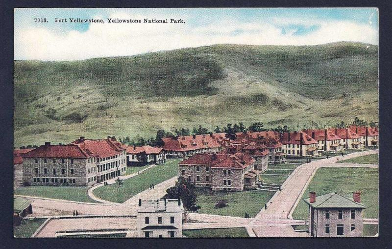Fort Yellowstone National Park Wyoming unused c1910's