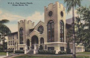Church First Baptist Church Winter Haven Florida 1955 Curteich