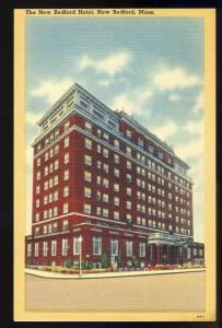 Nice New Bedford, Mass/MA Postcard, New Bedford Hotel