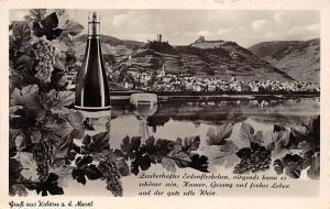 Gruss aus Kobern an der Mosel River General view Panorama