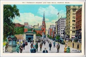 Tremont St.  & the Mall, Boston MA