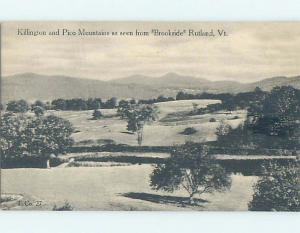 Unused Divided-Back PANORAMIC VIEW Rutland Vermont VT i0653