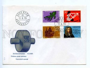 417517 Switzerland 1975 year First Day COVER special stamps set FDC