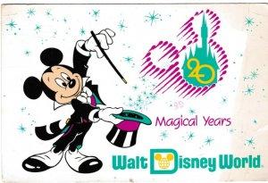 postcard comic Walt Disney World 20 Magical Years