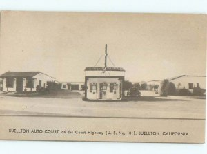 1930's GAS STATION PUMPS AT COURT MOTEL Buellton by Solvang & Lompoc CA AF6267