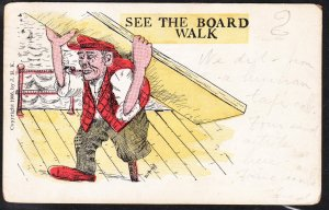 See the Board Walk - signed D Churchill - 1910