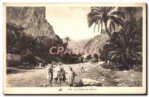 Old Postcard The Gate of Desert Donkey