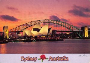 Postcard SYDNEY Harbour Bridge and Opera House AUSTRALIA Large Format 170x120mm