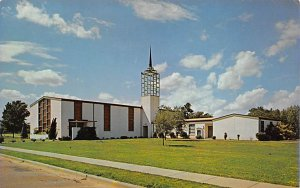 Military Post Card US Army Sightseeing Chapel at Fort Benning Georgia, USA, &...