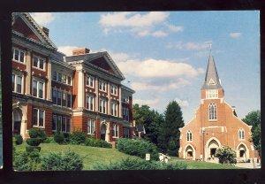 Marlborough, Massachusetts/MA Postcard, Walker Bldg, Immaculate Conception