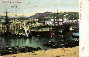CPA GENOVA II Porto ITALY (800557)