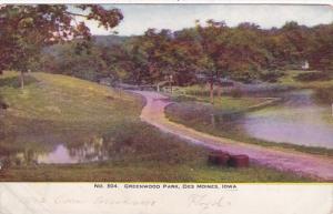 Iowa Des Moines Scene In Greenwood Park 1907