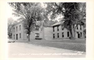 Keosauqua Iowa~Van Buren County Court House~1950s Car~Real Photo Postcard~RPPC