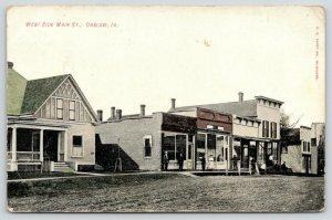 Onslow IA~West Side Main Street~Folks @ Stores~House~Dirt Road~Husking Corn~1908