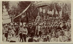 siam thailand, King Rama VI Vajiravudh during Crowning (1911) Hatano Rising Sun
