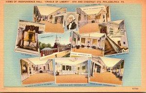 Pennsylvania Philadelphia Views Of Independence Hall Cradle Of Liberty&...
