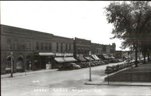 Barron WI Street Scene Real Photo Card/Postcard